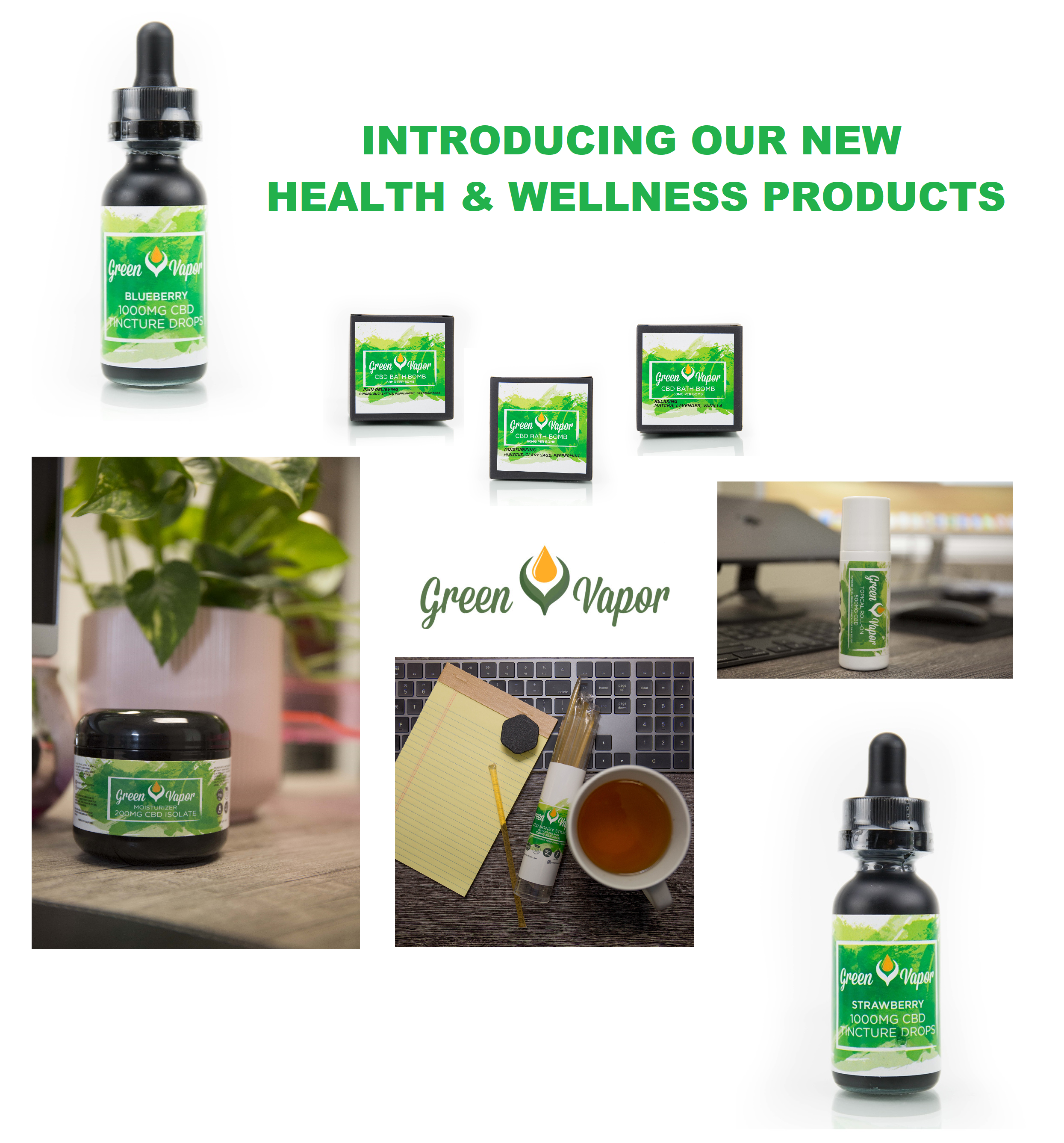 GV Products - GV Experience | CBD Tincture Oil & Products Supplier | Cart | Checkout | Green Vapor USA | About Us | New Products
